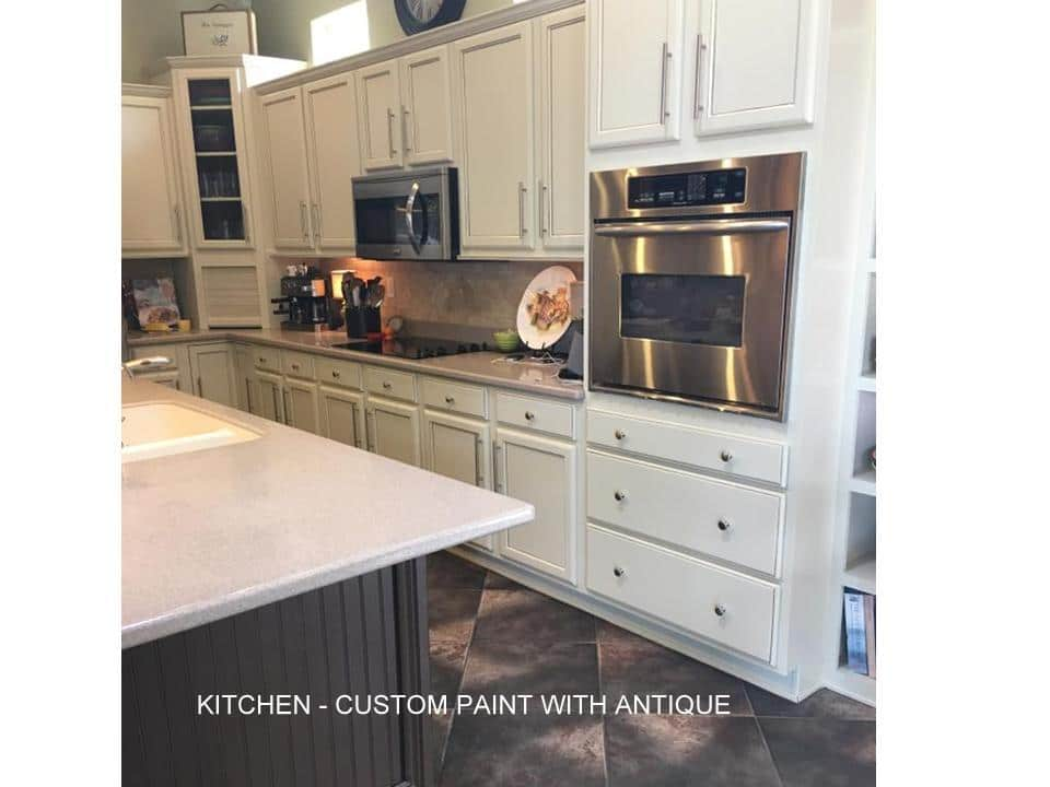 Kitchen with custom paint