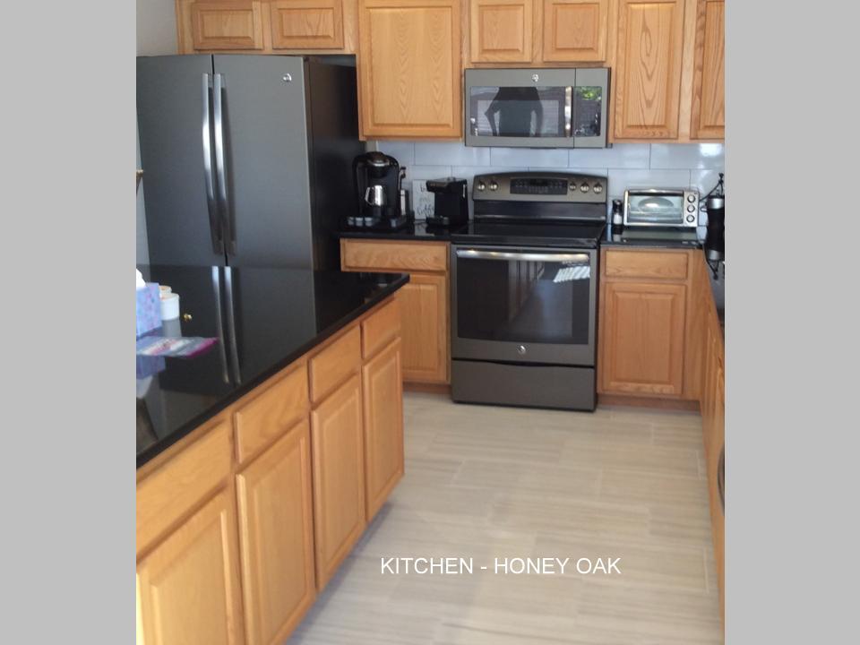 Kitchen cabinets custom honey oak