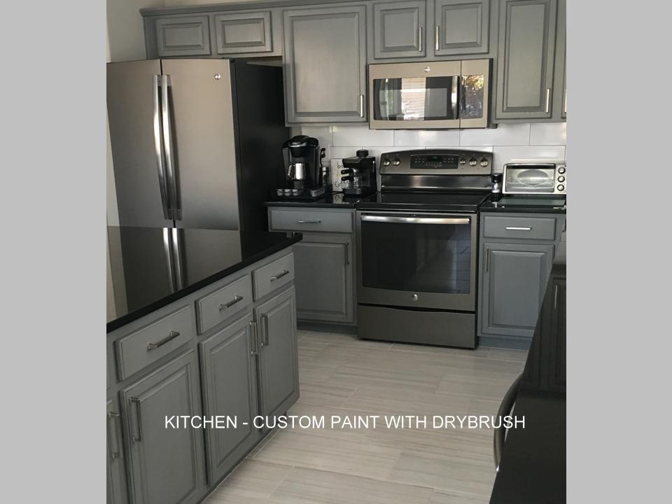 Kitchen cabinets custom dry brush